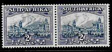 South Africa 1933 - 2d blue & violet - MVLH - bilingual pair - details below