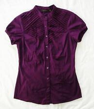 The Limited -EUC dark Purple Shirt / Blouse Short Sleeve Cotton, Nylon Spandex S