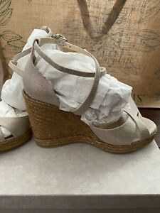 Jimmy Choo Alanah 105 Platform Wedge Sandals BRAND NEW In Box Size 38.5 (US 8.5)