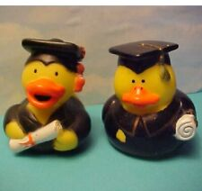 2 Graduation Yellow Rubber Duck Cake Toppers