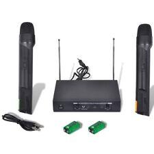 vidaXL Base ricevitore con 2 Microfoni Wireless VHF
