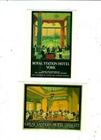 2 POSTCARDS PUBLISHED IN UK BY DRUMAHOE GRAPHICS   LNER RAILWAY HOTELS