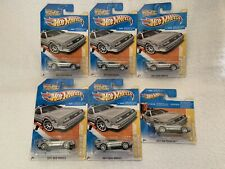 Lot Of 6 Hot Wheels Back To The Future Time Machines 2011 DeLorean Dmc-12