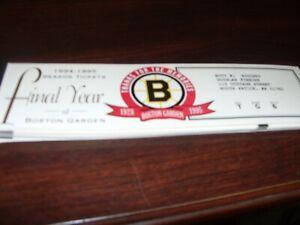 Boston Bruins 1994-95 Final Year at Boston Garden Season Ticket Stubs 17 Games