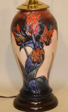 Moorcroft Art Pottery 12 Inch Sally Tuffin Designs Red Tulips Vase Table Lamp