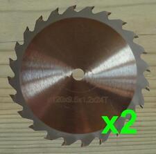 Deux 120 mm x 9.5 mm Lames de scie circulaire, Wood Cut Pour Worx worxsaw XL WX249, WX247