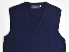 Burberrys Mens Sweater Vest 100% Cashmere Made In Scotland Blue 40 Medium
