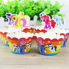 My little Pony Cupcake Wrappers&Toppers Picks Kids Birthday Party Supplies 12pcs