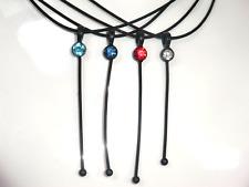 Collier - Kette mit edlen Swarovski - Elements -Steinen 4 - verschiedene Farben