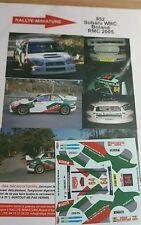 DECALS 1/24 REF 952 SUBARU IMPREZA WRC BOLAND RALLYE MONTE CARLO 2005 RALLY