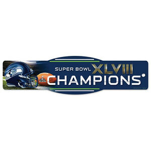 Super Bowl 48 Seattle Seahawks Champions Officially Licensed Street Zone Sign
