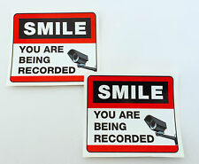 CAMERA SECURITY STICKERS set of 2, for shops, offices, windows, doors, walls