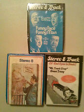 3 Gene Tracy 8 Track Track Tapes New Comedy & Word Spoken Comedy/Novelty Music