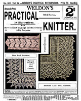 Weldon's 2D #309 c.1910 Practical Knitting Patterns Vintage Lace Edgings REPRO