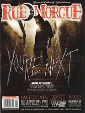 NEW! RUE MORGUE Issue 136 August 2013 YOU'RE NEXT PACIFIC RIM Guillermo Del Toro