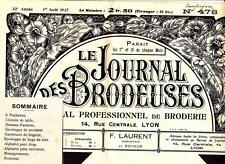 LE JOURNAL DES BRODEUSES n°478 août 1937