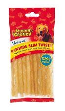 Brand New Rawhide Natural Slim Twist Sticks Dog Treats Dog Food Munch & Crunch