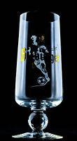 Bitburger Bier, Editions Glas, Sammelglas, Fußball Pokal, Bierglas 0,25l