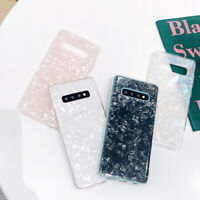 For Samsung Galaxy Note 10 Plus S10 S9 S8 Bright Marble Glossy Slim Case Cover