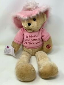 """Chantilly Lane Musical Bear, 19"""" Pearls Wisdom 1985 That's What Friends Are For"""