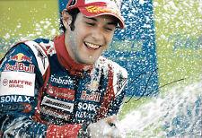 Bruno Senna SIGNED 12x8 , Arden GP2 Victory Podium Portrait 2007