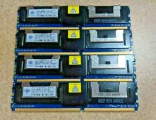 4x 1GB Nanya PC2-5300F 667hz DDR2 NT1GT72U89D1BN-3C Memory RAM Fully Buffered