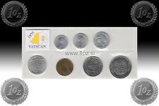 VATICAN SET 1975 - 7 Commemorative coins ( 1, 2, 5, 10, 20, 50, 100 LIRE ) UNC