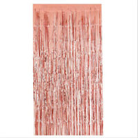 Backdrop Hen Night Decor Rose Gold Foil Fringe Curtain Party Wedding Functional
