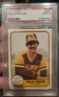 1981 Fleer #485 Rollie Fingers HOF PSA 9⚾️1981AL MVP/Cy Young⚾️PSA Registry Card