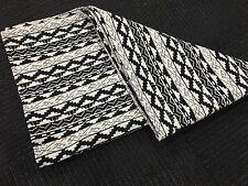 Jacquard Aztec Woven Weave Throw Rug Blanket - Black/White & FREE FREIGHT