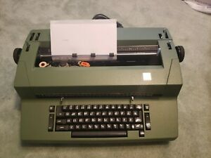 Vintage IBM Correcting Selectric II Typewriter Olive Green with Cover. Works