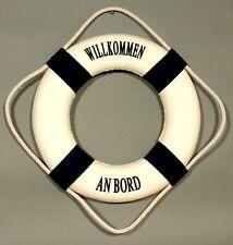 "Deko Rettungsring ""Willkommen an Bord"" blau / weiß 25 cm Ø maritime Dekoration"