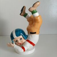 """Vintage NAPCO 1956 Football Player Ceramic Figurine """"Diving For The Ball"""""""