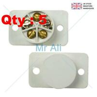 5 Burglar Alarm Door Contacts, White Flush Speedfit Magnetic Reed Contact Type.