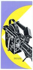 Filmkamera Prospekt BOLEX H 16 RX VS / PAN CINOR 8mm und 16mm Broschüre (Y23