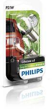 2 Bombillas Philips LongLife Ecovision P21W Duracion Vision Lampara Señalizacion
