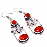 Carnelian Ethnic Jewelry Handmade Earring BE-1719