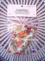 Longaberger Small Woven Memories Basket Liner Sunflower 2007 New In Package