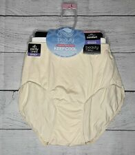NWT 3 Beauty By Bali Comfort Revolution Seamless Stretch Brief Panties Size L