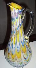 Vase Opaline florence Stil Murano Vase Überfang Einschmelz Luftblasen und Abriss