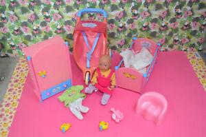 Baby Born Zapf mini world MiniWorld bett buggy schrank