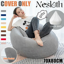 Soft Bean Bag Chairs Couch Sofa Cover Indoor Lazy Lounger For Adult Gaming Sofa