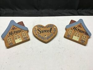 HOME SWEET HOME WOOD COUNTRY WALL PLAQUE