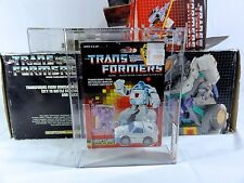 1987 Transformers AFA Series 4 Throttlebot Searchlight With Decoy MISB MIB BOX
