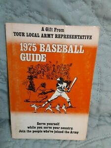 1975 Baseball Guide Pocket Size: Army Recruiter: Hank Aaron drawing on cover