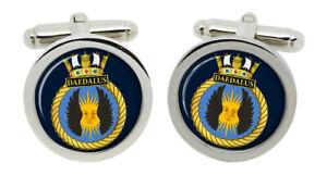 HMS Daedalus, Royal Navy Cufflinks in Box