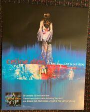 Celine Dion A New Day. Live in Las Vegas original 24x30 promo poster Epic 2004
