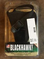 """Blackhawk LEFT HAND Nylon Hip Holster for 2"""" barrel sm/med DoubleAction Revolver"""