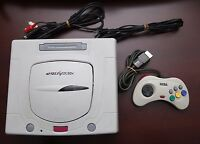 Sega Saturn White Console Japan import SS system US Seller Very Good US Seller