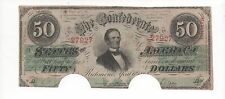CURRENY Confederate States of America  $50.00  Jefferson Davis ~ NICE Condition